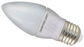 This is a 4 W 26-27mm ES/E27 Candle bulb that produces a Daylight (860/865) light which can be used in domestic and commercial applications