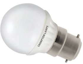 This is a 4 W 22mm Ba22d/BC Golfball bulb that produces a Daylight (860/865) light which can be used in domestic and commercial applications