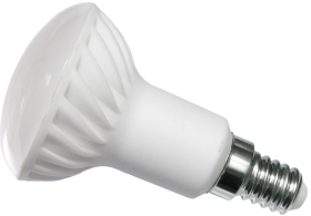 This is a 3 W 14mm SES/E14 Reflector/Spotlight bulb that produces a Warm White (830) light which can be used in domestic and commercial applications
