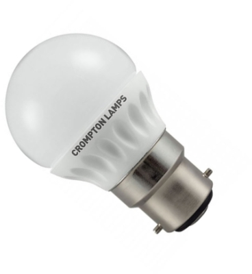 This is a 4 W Golfball bulb that produces a Daylight (860/865) light which can be used in domestic and commercial applications