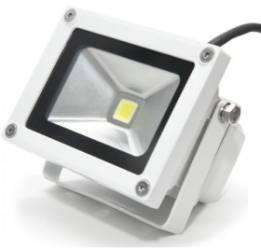 This is a 10 W Flood Light bulb that produces a Warm White (830) light which can be used in domestic and commercial applications