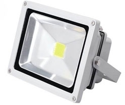 This is a 50 W Flood Light bulb that produces a Warm White (830) light which can be used in domestic and commercial applications