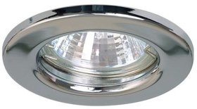 This is a Chrome finish light fitting