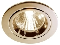 This is a Brass finish light fitting