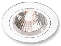 This is a White finish light fitting