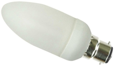This is a 5W 15mm Ba15d/SBC Candle bulb that produces a Very Warm White (827) light which can be used in domestic and commercial applications
