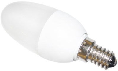 This is a 11W 14mm SES/E14 Candle bulb that produces a Very Warm White (827) light which can be used in domestic and commercial applications