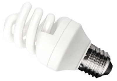 This is a 11W 26-27mm ES/E27 Spiral bulb that produces a Very Warm White (827) light which can be used in domestic and commercial applications