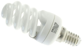 This is a 15W 14mm SES/E14 Spiral bulb that produces a Cool White (840) light which can be used in domestic and commercial applications