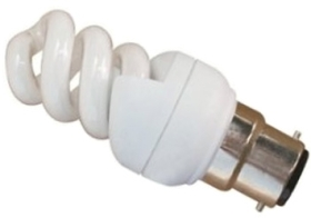 This is a 20W 22mm Ba22d/BC Spiral bulb that produces a Daylight (860/865) light which can be used in domestic and commercial applications