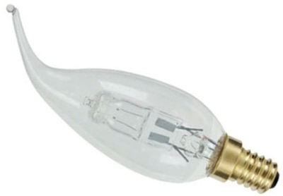 This is a 19 W 14mm SES/E14 Candle bulb that produces a Warm White (830) light which can be used in domestic and commercial applications