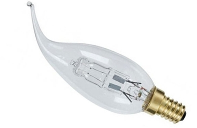 This is a 30 W 14mm SES/E14 Candle bulb that produces a Warm White (830) light which can be used in domestic and commercial applications