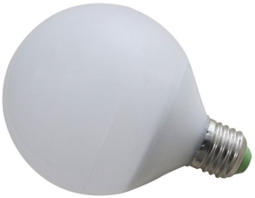 This is a 12 W 26-27mm ES/E27 Globe bulb that produces a Warm White (830) light which can be used in domestic and commercial applications