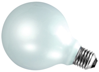 This is a 100W 26-27mm ES/E27 Globe bulb that produces a Warm White (830) light which can be used in domestic and commercial applications