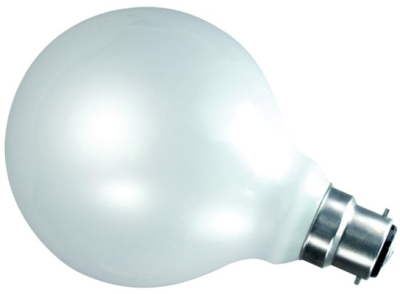 This is a 60W 22mm Ba22d/BC Globe bulb that produces a Warm White (830) light which can be used in domestic and commercial applications