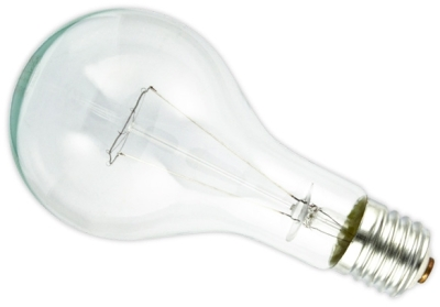 This is a 300W 39-40mm GES/E40 Standard GLS bulb that produces a Clear light which can be used in domestic and commercial applications