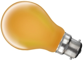 This is a 15W 22mm Ba22d/BC Standard GLS bulb that produces a Amber light which can be used in domestic and commercial applications