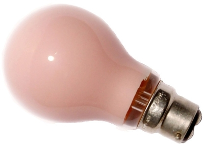 This is a 15W 22mm Ba22d/BC Standard GLS bulb that produces a Pink light which can be used in domestic and commercial applications