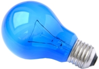 This is a 15W 26-27mm ES/E27 Standard GLS bulb that produces a Blue light which can be used in domestic and commercial applications