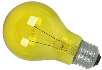 This is a 15W 26-27mm ES/E27 Standard GLS bulb that produces a Yellow light which can be used in domestic and commercial applications