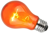 This is a 25W 26-27mm ES/E27 Standard GLS bulb that produces a Amber light which can be used in domestic and commercial applications