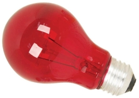 This is a 25W 26-27mm ES/E27 Standard GLS bulb that produces a Red light which can be used in domestic and commercial applications