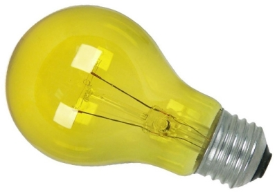 This is a 25W 26-27mm ES/E27 Standard GLS bulb that produces a Yellow light which can be used in domestic and commercial applications