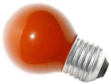 This is a 15W 26-27mm ES/E27 Golfball bulb that produces a Red light which can be used in domestic and commercial applications