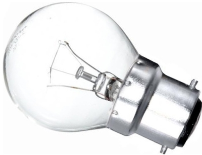 This is a 22mm Ba22d/BC Golfball bulb that produces a Clear light which can be used in domestic and commercial applications
