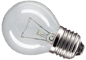 This is a 40W 26-27mm ES/E27 Golfball bulb that produces a Clear light which can be used in domestic and commercial applications