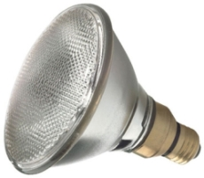 This is a 90W 26-27mm ES/E27 Reflector/Spotlight bulb that produces a Diffused light which can be used in domestic and commercial applications