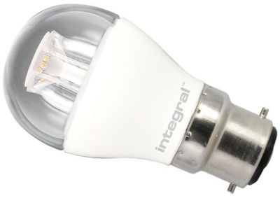 This is a 6.5 W 22mm Ba22d/BC Golfball bulb that produces a Warm White (830) light which can be used in domestic and commercial applications