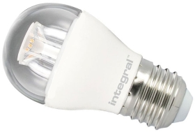 This is a 6.5 W 26-27mm ES/E27 Golfball bulb that produces a Warm White (830) light which can be used in domestic and commercial applications