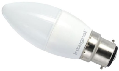 This is a 2.9 W 22mm Ba22d/BC Candle bulb that produces a Warm White (830) light which can be used in domestic and commercial applications