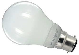This is a 5.5 W 22mm Ba22d/BC Standard GLS bulb that produces a Warm White (830) light which can be used in domestic and commercial applications