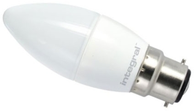 This is a 4 W 22mm Ba22d/BC Candle bulb that produces a Warm White (830) light which can be used in domestic and commercial applications