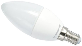 This is a 3.5 W 14mm SES/E14 Candle bulb that produces a Warm White (830) light which can be used in domestic and commercial applications