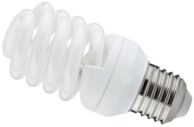 This is a 20W 26-27mm ES/E27 Spiral bulb that produces a Very Warm White (827) light which can be used in domestic and commercial applications