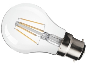 This is a 4.5 W 22mm Ba22d/BC Standard GLS bulb that produces a Very Warm White (827) light which can be used in domestic and commercial applications