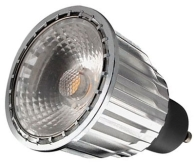 This is a 7 W GU10 Reflector/Spotlight bulb that produces a Very Warm White (827) light which can be used in domestic and commercial applications