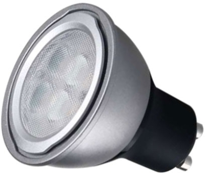 This is a 6 W GU10 Reflector/Spotlight bulb that produces a Warm White (830) light which can be used in domestic and commercial applications