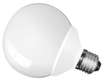 This is a 20W 26-27mm ES/E27 Globe bulb that produces a Daylight (860/865) light which can be used in domestic and commercial applications