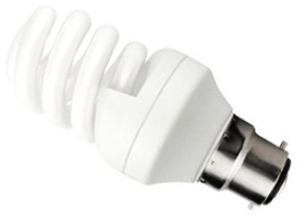 This is a 15 W 22mm Ba22d/BC Spiral bulb that produces a Cool White (840) light which can be used in domestic and commercial applications