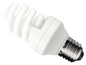 This is a 15 W 26-27mm ES/E27 Spiral bulb that produces a Cool White (840) light which can be used in domestic and commercial applications