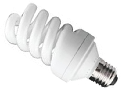 This is a 24 W 26-27mm ES/E27 Spiral bulb that produces a Cool White (840) light which can be used in domestic and commercial applications
