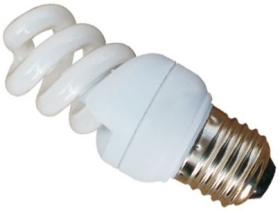 This is a 9W 26-27mm ES/E27 Spiral bulb that produces a Very Warm White (827) light which can be used in domestic and commercial applications