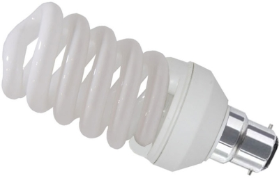 This is a 24W 22mm Ba22d/BC Spiral bulb that produces a Daylight (860/865) light which can be used in domestic and commercial applications