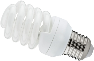 This is a 24W 26-27mm ES/E27 Spiral bulb that produces a Very Warm White (827) light which can be used in domestic and commercial applications
