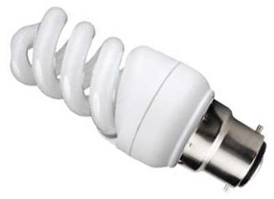 This is a 9 W 22mm Ba22d/BC Spiral bulb that produces a Cool White (840) light which can be used in domestic and commercial applications