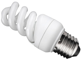 This is a 9 W 26-27mm ES/E27 Spiral bulb that produces a Cool White (840) light which can be used in domestic and commercial applications